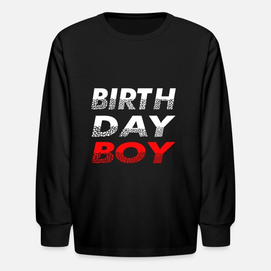Present Long-Sleeve Shirts - birthday boy - Kids' Longsleeve Shirt black