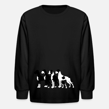 Great Dane Black Great Danes - Kids' Long Sleeve T-Shirt