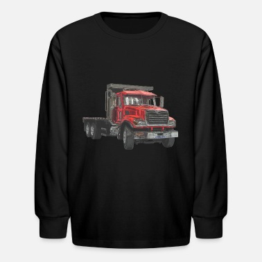 Flatbed Flatbed Truck - Red - Kids' Long Sleeve T-Shirt