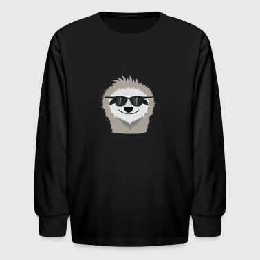 Sloth with sunglasses Shdn7 - Kids' Long Sleeve T-Shirt
