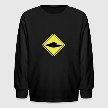 UFO x files road sign - Kids' Long Sleeve T-Shirt