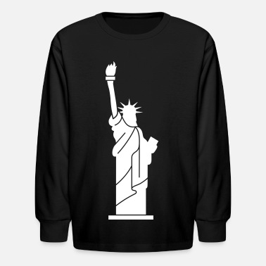 Statue Statue of Liberty, Lady Liberty - Kids' Long Sleeve T-Shirt