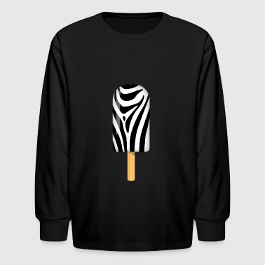 Zebra Ice Popsicle - Kids' Long Sleeve T-Shirt