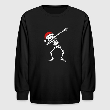 Skeleton Santa dab / dabbing skeleton - Kids' Long Sleeve T-Shirt
