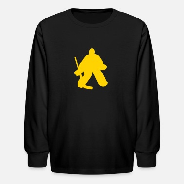 Hockey Goalie Silhouette hockey goalie - Kids' Long Sleeve T-Shirt