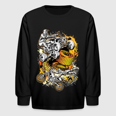 FMX Freestyle Abstract - Kids' Long Sleeve T-Shirt