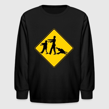 X-ing Zombie X-ing - Kids' Long Sleeve T-Shirt