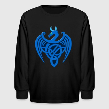 Blue Celtic Dragon - Kids' Long Sleeve T-Shirt