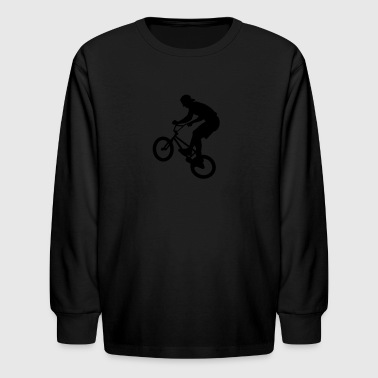 Cool BMX Rider  - Kids' Long Sleeve T-Shirt