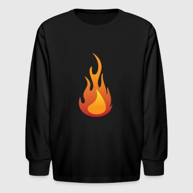Fire / Flame - Kids' Long Sleeve T-Shirt