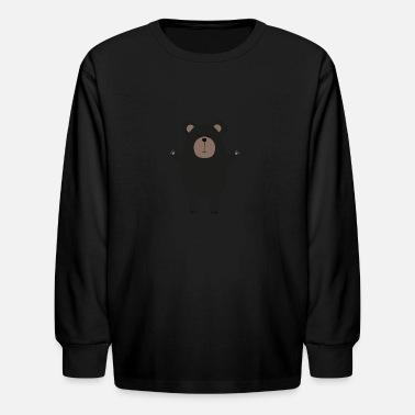 2732ae16d Happy Black Bear S8s3m - Kids  39  Longsleeve Shirt