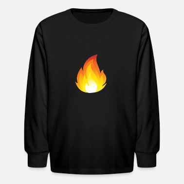 Omg Youtube Flames Merch a For youtube - Kids' Long Sleeve T-Shirt