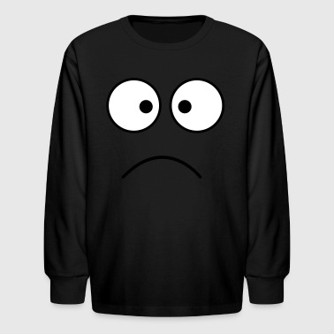 Crazy crazy face eyes together frown - Kids' Long Sleeve T-Shirt