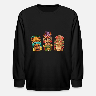 Inca Aztec Mask Inca Culture Maya Civilization Gift - Kids' Longsleeve Shirt
