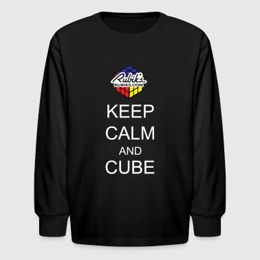 Rubiks Cube Rubik's Cube Keep Calm Cube On - Kids' Long Sleeve T-Shirt