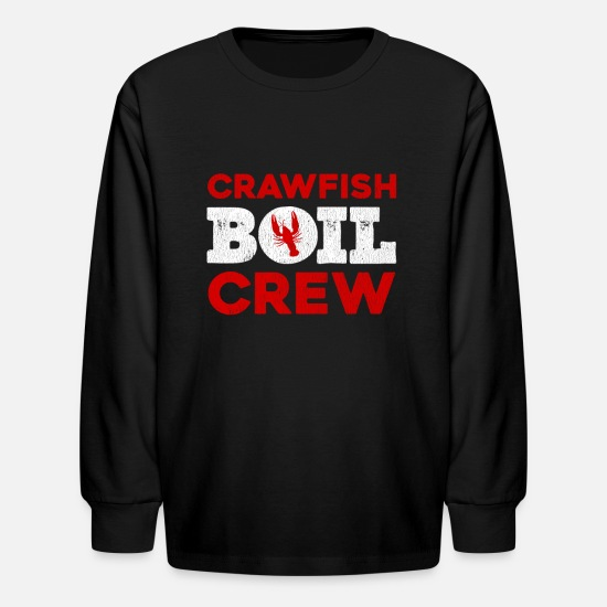 Crawfish Long-Sleeve Shirts - Cajun Crawfish Boil design For Crawfish Boil Party - Kids' Longsleeve Shirt black