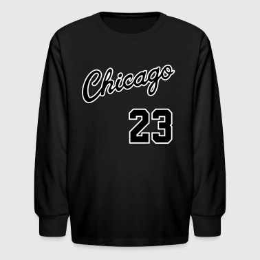 Chicago 23 Script Shirt - Kids' Long Sleeve T-Shirt