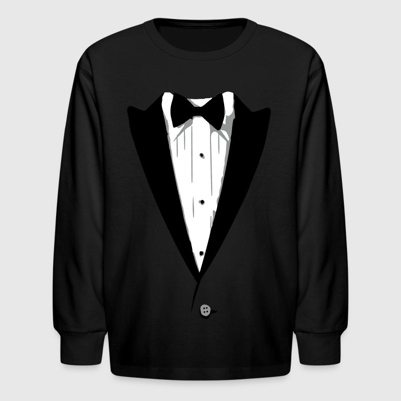 Custom Color Tuxedo Tshirt - Kids' Long Sleeve T-Shirt