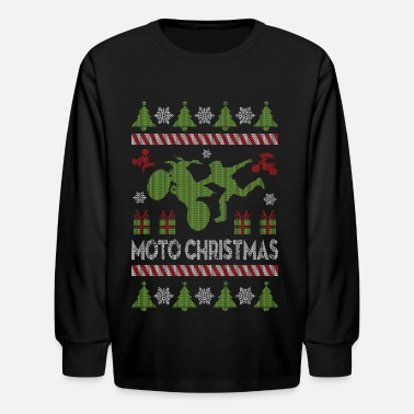 Christmas Motocross Motocross Ugly Christmas - Kids' Long Sleeve T-Shirt