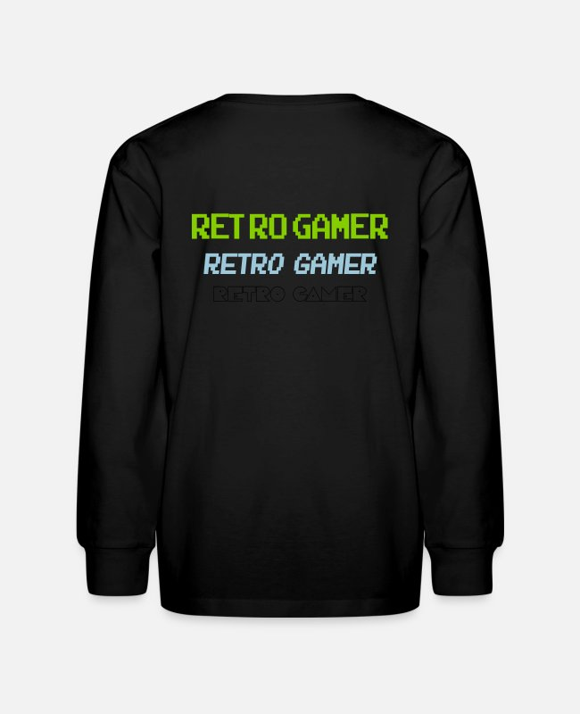 1983 Long-Sleeved Shirts - Retro Gamer - Kids' Longsleeve Shirt black