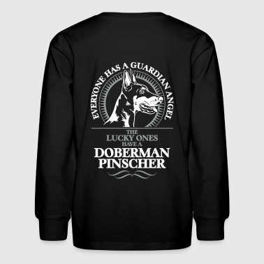 GUARDIAN ANGEL DOBERMAN PINSCHER - Kids' Long Sleeve T-Shirt