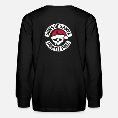 Mc Sons of Santa - North Pole - Biker MC Motor Club - Kids' Long Sleeve T-Shirt