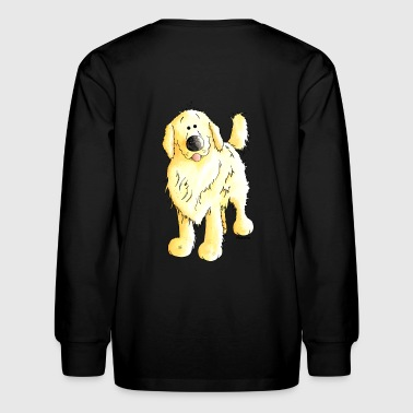 Funny Golden Retriever - Dog - Kids' Long Sleeve T-Shirt