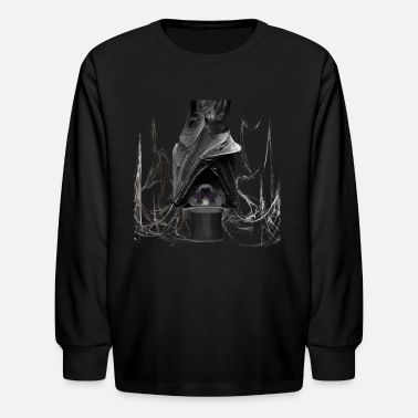 Bats Saturn bat - Kids' Long Sleeve T-Shirt
