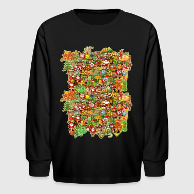 In Christmas Melt into the Crowd and Enjoy - Kids' Long Sleeve T-Shirt