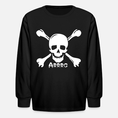 Team Rogers pirate skull jolly rogers - Kids' Long Sleeve T-Shirt