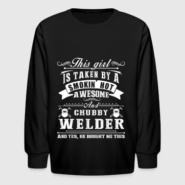 Taken By Awesome Welder Shirt - Kids' Long Sleeve T-Shirt