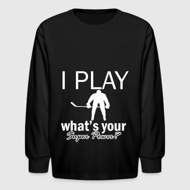ice hockey design - Kids' Long Sleeve T-Shirt