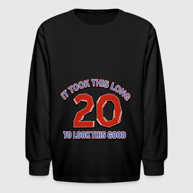 20th birthday design - Kids' Long Sleeve T-Shirt