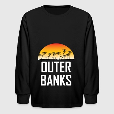 Outer Banks NC Sunset And Palm Trees Beach - Kids' Long Sleeve T-Shirt