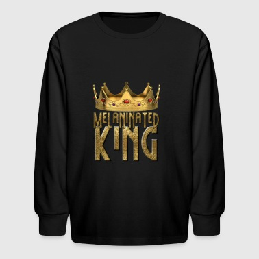 MELANINATED KING design - Kids' Long Sleeve T-Shirt