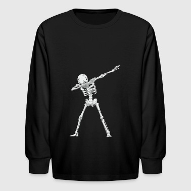 Skeleton dabbing - Kids' Long Sleeve T-Shirt
