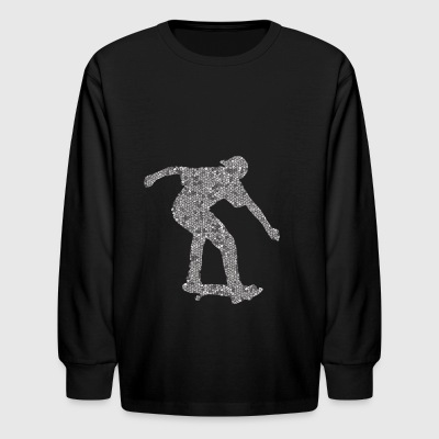 Cool Skateboarding Boarders Design - Kids' Long Sleeve T-Shirt