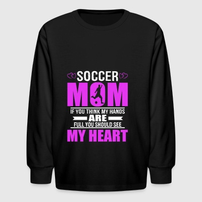 Soccer Moms Full Heart Mothers Day T-Shirt - Kids' Long Sleeve T-Shirt