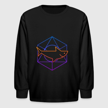 Psychedelic Sacred Geometry Shark - Kids' Long Sleeve T-Shirt