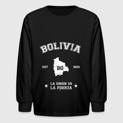 Bolivia vintage map - Kids' Long Sleeve T-Shirt
