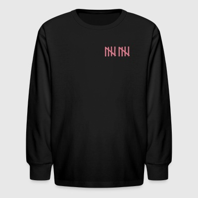 TEAM 10 TEN crossed arrows 4\4\ - pink - Kids' Long Sleeve T-Shirt