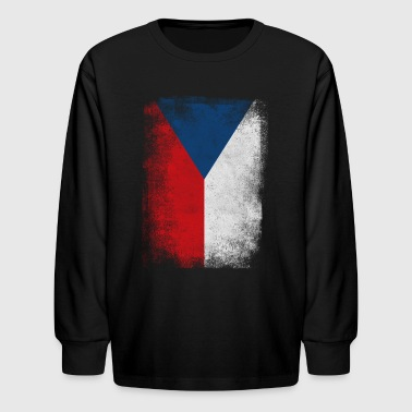 Czech Republic Flag Proud Czech Vintage Distressed - Kids' Long Sleeve T-Shirt