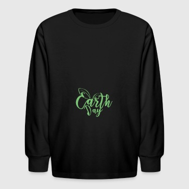 Earth Day Leaf Love - Kids' Long Sleeve T-Shirt