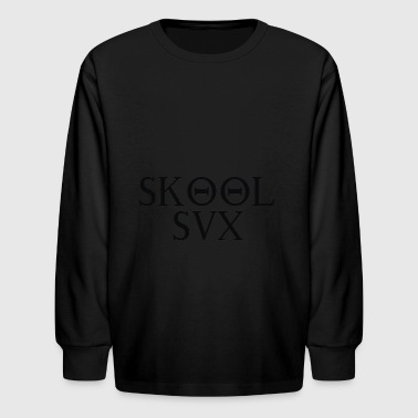 Skool Sux Sorority - Kids' Long Sleeve T-Shirt