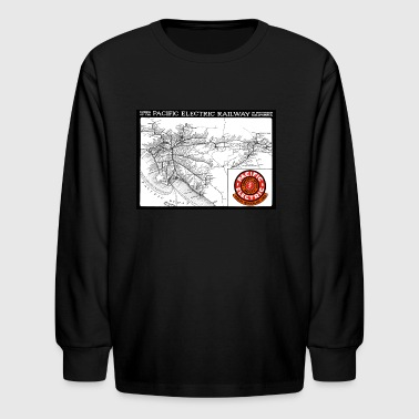 Historic Map Of Pacific Electric Railway - Kids' Long Sleeve T-Shirt