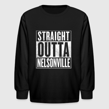 Straight Outta Nelsonville - Kids' Long Sleeve T-Shirt