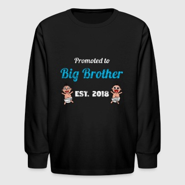 Promoted to Big Brother 2018 - Brother to be - Kids' Long Sleeve T-Shirt