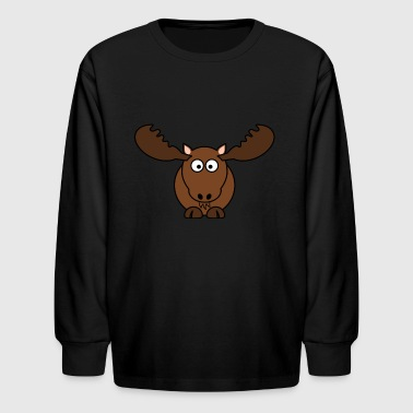 victor the moose - Kids' Long Sleeve T-Shirt