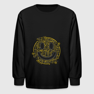 Electric Smiley - Kids' Long Sleeve T-Shirt