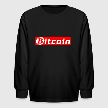 Bitcoin Supreme Box Logo - Kids' Long Sleeve T-Shirt